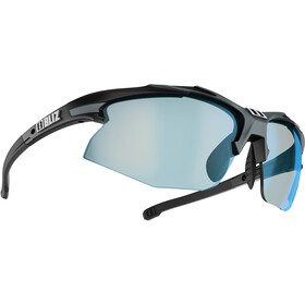 Bliz Hybrid M18 Lunettes Ultra Lens Science, matt black/photochromic brown w blue multi
